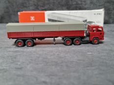 Wiking #51H 1972 Wiking Germany Ho Scale #51h Tractor Trailer Truck Diecast With Original Box