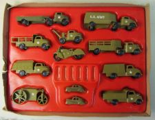 Pyro Plastic Corp 1950s 21 Piece US Army Set With Box All Plastic US Army Set Authentic Action