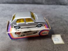 SIKU #1033 VW Golf Silver Yellow Interior In Excellent Box 1/55 Scale