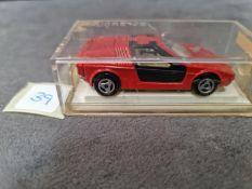 Majorette #217 Turbo BMW Red Hard Plastic Case 1994