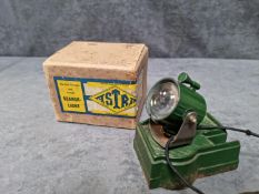 Astra Pharos Search Light Rare Early Model Square Base Battery Operated Metal Searchlight Astra