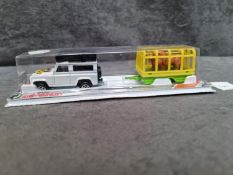 Majorette Series 300 #328 Land Rover 90 Safari With Lion Cage Trailer Sealed Card