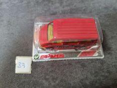 Majorette #243 Ford Transit Red Sealed Card 1988