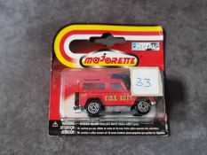 Majorette #246 03820005 Land Rover Fire Truck Sealed Card