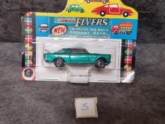 Lonestar Flyers #121 Fiat 2300 S Coupe In Metallic Green With Orange Interior On Bubble Car