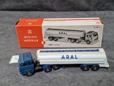 Wiking Germany HO Scale #80a Aral Tanker Trailer Truck