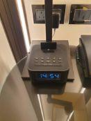 Majority Neptune Bluetooth Speaker 20W Docking Station Alarm Clock FM Radio Lightning Dock For