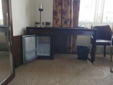 Walnut Veneer Desk By David Salmon Three Drawer With Inlay Leather Top 150 X 60 X 74cm (Loc 416)