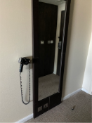 Curtis Contract Furniture Full Length Dress Mirror Brown 534 (w) x 50 (d) x 2150mm (h) (Exec)
