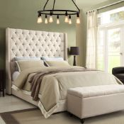 Luxurious Park Avenue Bed King Size a hand crafted / hand tufted luxuriously upholstered bed slatted