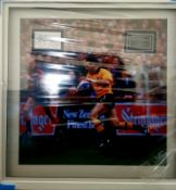David Campese Signed And Framed Australia Rugby Display Supplied with Certificate Of Authenticity