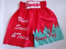 Vinny Paz Signed Boxing Shorts Supplied with Certificate Of Authenticity