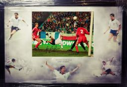Gary Lineker Signed And Framed England Display Supplied with Certificate Of Authenticity