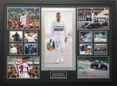 Lewis Hamilton Signed And Framed Formula 1 Display Supplied with Certificate Of Authenticity