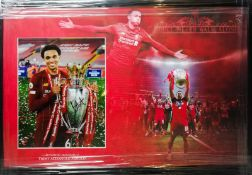 Trent Alexander Arnold Signed And Framed Liverpool Display Supplied with Certificate Of