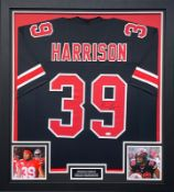 Malik Harrison Signed And Framed Ohio State Jersey Supplied with Certificate Of Authenticity