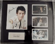 John Hurt Signed And Framed Alien Display Supplied with Certificate Of Authenticity