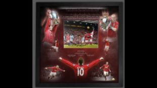 Wayne Rooney Signed And Framed Manchester United Display Supplied with Certificate Of Authenticity