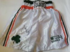 Gerry Cooney Signed Boxing Shorts Supplied with Certificate Of Authenticity