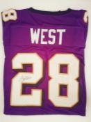 Terrance West Signed Baltimore Ravens Jersey Jsa