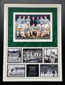 Celtic Lisbons Lions Display Signed By 8 Supplied with Certificate Of Authenticity