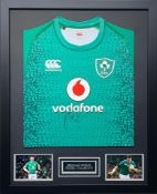 Peter O'Mahony Signed And Framed Ireland Shirt Supplied with Certificate Of Authenticity