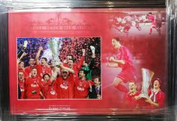Robbie Fowler Signed And Framed Liverpool Display Supplied with Certificate Of Authenticity