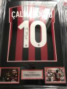Hakan Calhanoglu Signed And Framed Ac Milan Shirt Supplied with Certificate Of Authenticity