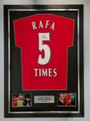 Rafa Benitez Signed And Framed Liverpool 2005 Shirt Supplied with Certificate Of Authenticity