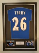 John Terry 2006 Signed And Framed Chelsea Home Shirt Supplied with Certificate Of Authenticity