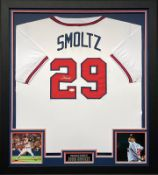 John Smoltz Signed And Framed Atlanta Braves Jersey Supplied with Certificate Of Authenticity