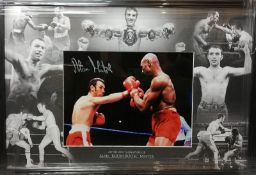Alan Minter Signed And Framed Boxing Dissplay Supplied with Certificate Of Authenticity