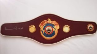Chris Eubank Signed WBO Mini Belt Supplied with Certificate Of Authenticity