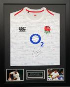 Mako Vunipola Signed And Framed England Shirt Supplied with Certificate Of Authenticity