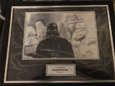David Prowse Igned And Framed Display Supplied with Certificate Of Authenticity