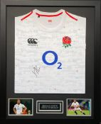 Chris Robshaw Signed And Framed England Shirt Supplied with Certificate Of Authenticity