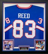 Andre Reed Signed And Framed Buffalo Bills Jersey Supplied with Certificate Of Authenticity