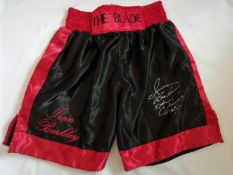 Iran Barkley Signed Boxing Shorts Supplied with Certificate Of Authenticity