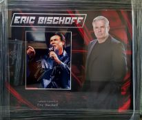 Eric Bischoff Signed And Framed WWE Display Supplied with Certificate Of Authenticity