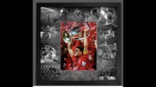Steven Gerrard Signed And Framed Istanbul 2005 Liverpool Display Supplied with Certificate Of