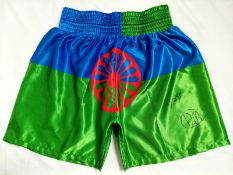 Billy Joe Saunders And Dennis McCann Dual Signed Shorts Supplied with Certificate Of Authenticity