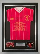 Alan Kennedy Signed And Framed Liverpool Honours Shirt Supplied with Certificate Of Authenticity
