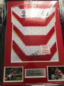 Yutaka Nagare Signed And Framed Japan World Cup 2019 Shirt Supplied with Certificate Of
