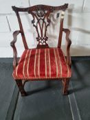 Arthur Brett Mahogany Dining Side Chair With Subtly Carved Detail To Back And Front Legs With A