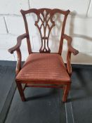 Arthur Brett Classic Mahogany Mid 18th Century Style Dining Chair With Restrained Elegant Lines