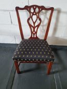 Arthur Brett Mid-Georgian Style Mahogany Dining Side Chair With Subtly Carved Detail And With An