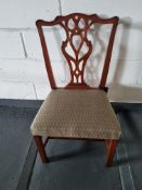 Arthur Brett Mid-Georgian Style Mahogany Dining Side Chair With Subtly Carved Detail And With A