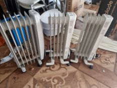 3 x oil filled mobile radiators as found
