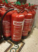 5 x Red fire extinquisher C02 2kg