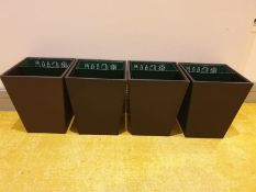 4 x hotel guest room waste bins Creating an upscale appearance with timeless style and handmade